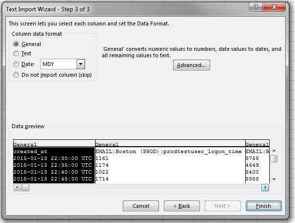 Excel Text Import Wizard 3