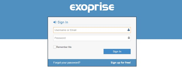 Exoprise Sign-in