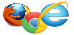 Microsoft Edge, Firefox and Google Chrome Web Browser