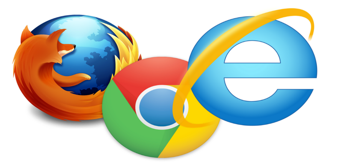 Microsoft Edge, Firefox And Google Chrome Web Browser