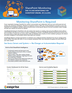 CloudReady SharePoint Monitoring Datasheet