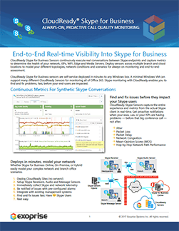 CloudReady Skype for Business Monitoring Datasheet