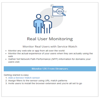 Service Watch - Real user monitoring by Exoprise