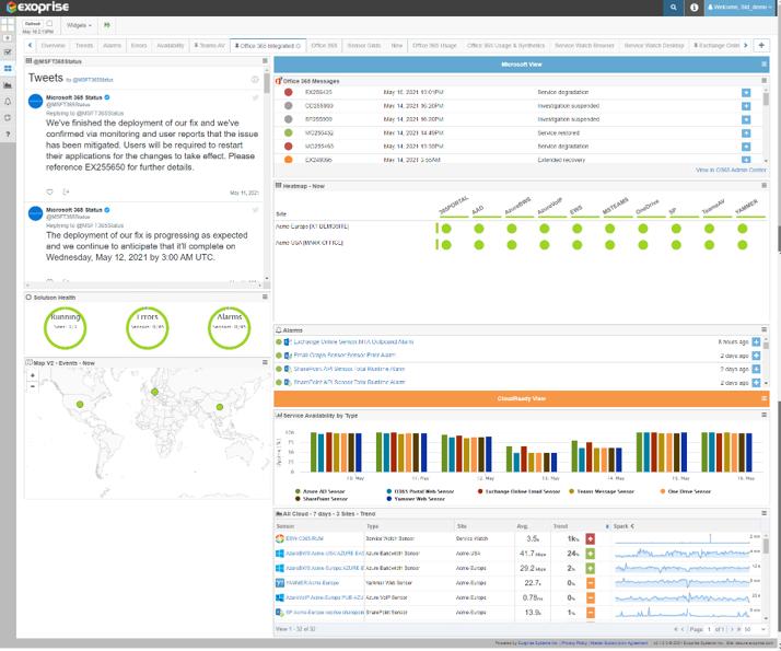 Office 365 Communications API Twitter Feed Monitoring
