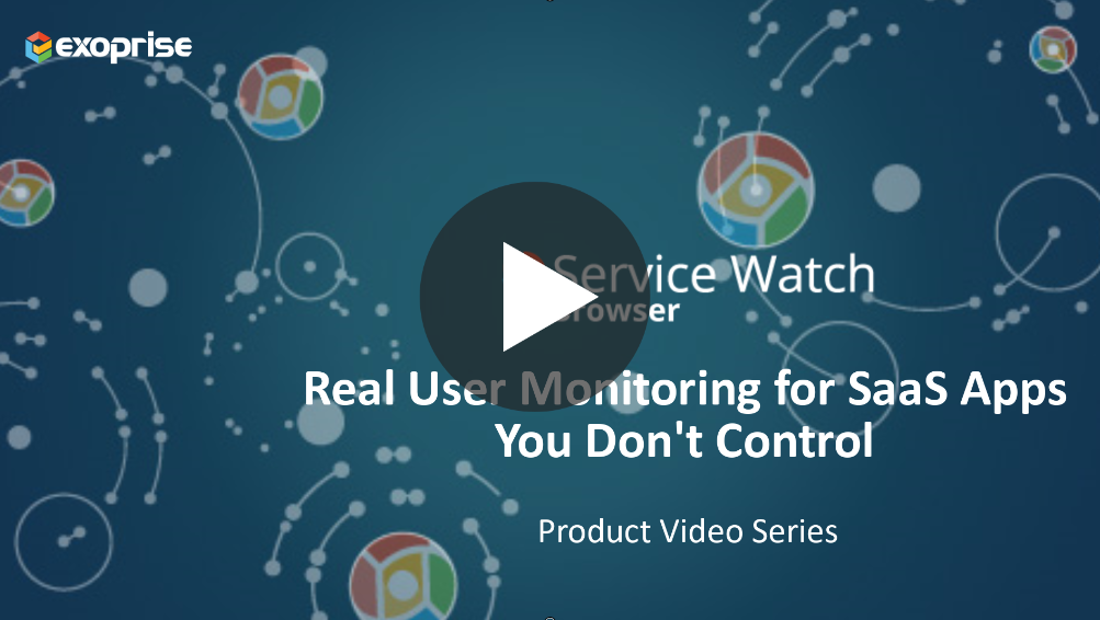 real user monitoring for SaaS applications