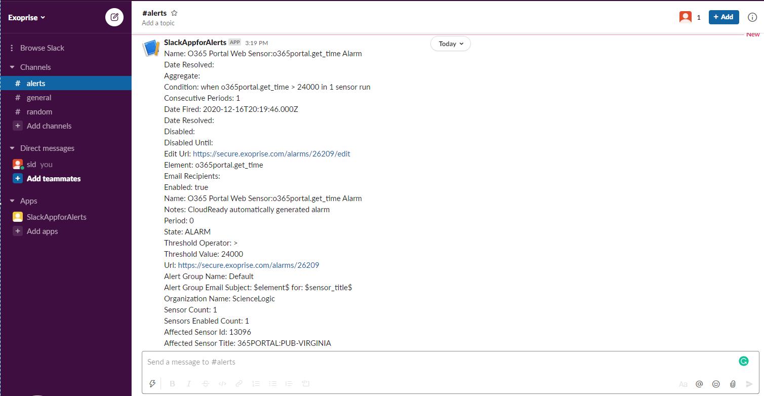 CloudReady Alerts in Slack