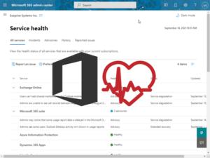 Admin Portal Service Health Outage