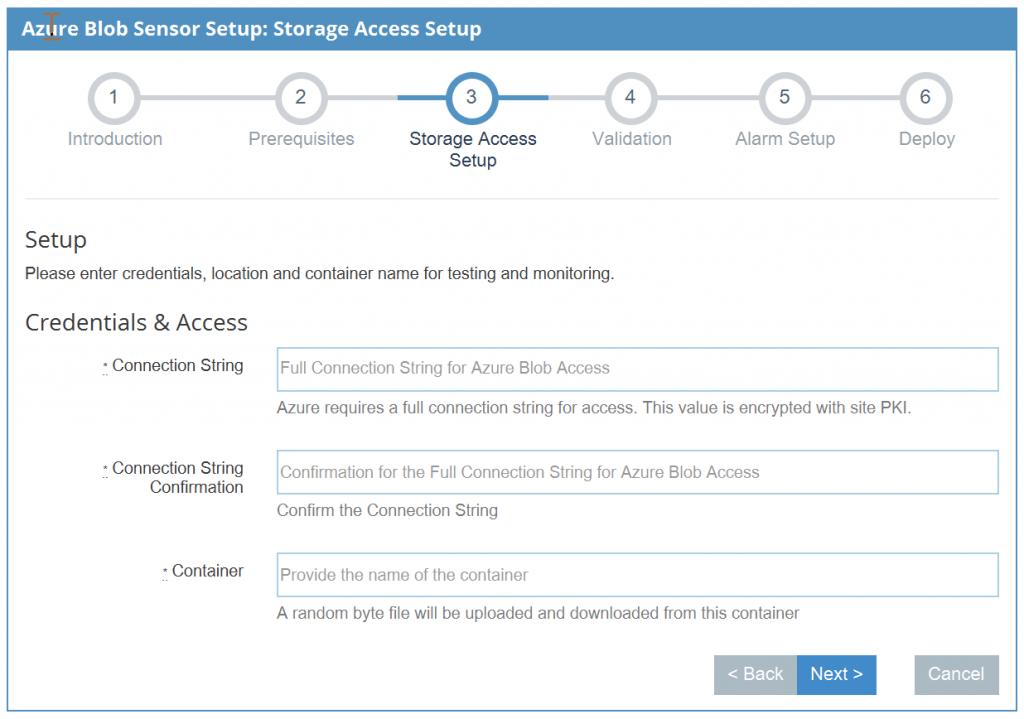 Setup Azure Blob Sensor Configuration