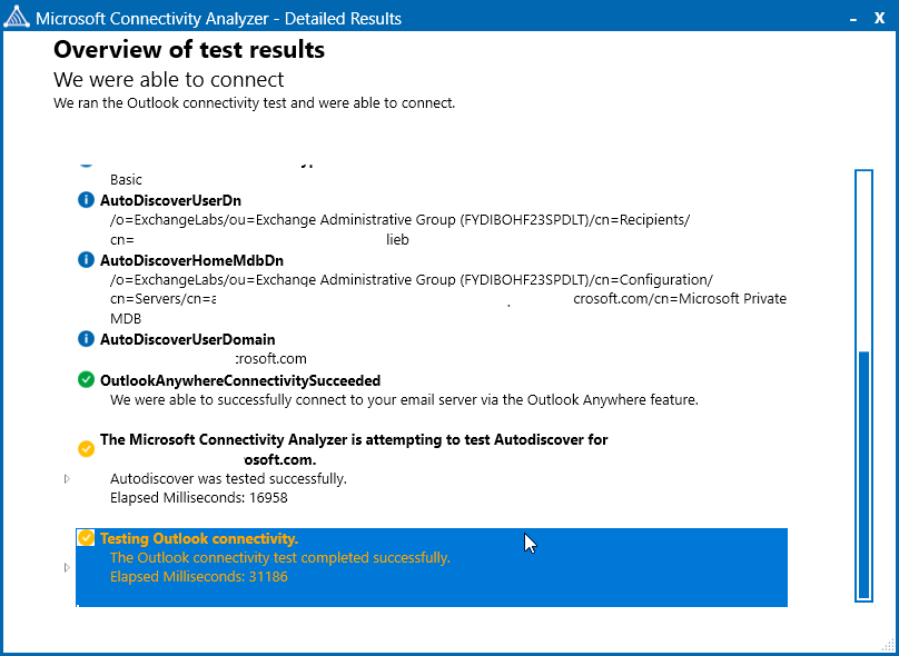 Overview Of Microsoft Connectivity Test Results