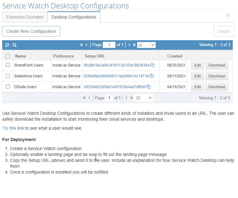 Create & Save Configurations