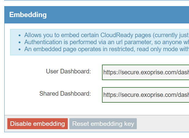 Embedding Dashboards Setup