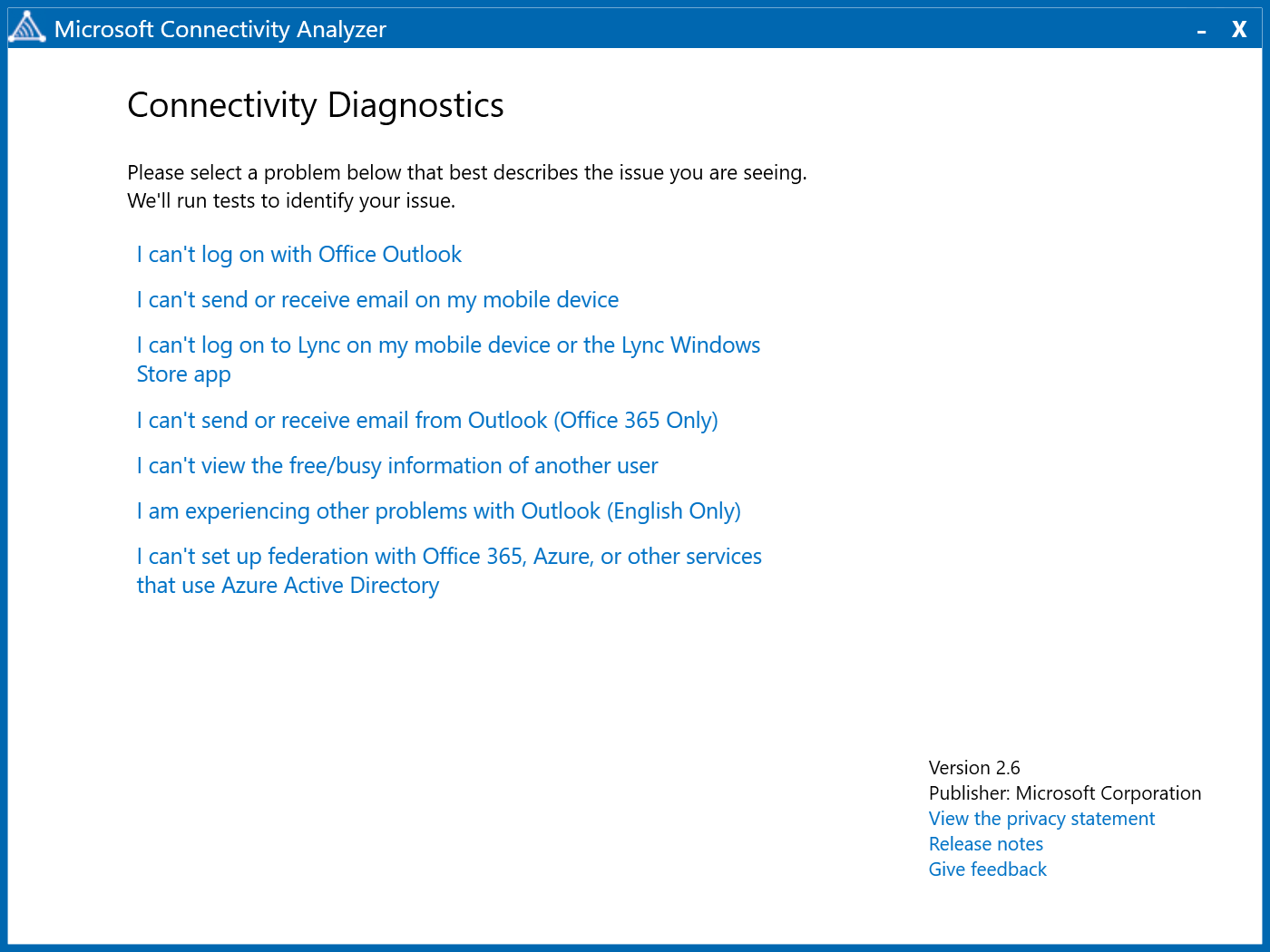 Launch Microsoft Connectivity Analyzer After Installation