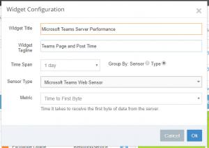 Scorecard Configuration Aggregate MS Teams Server Performance