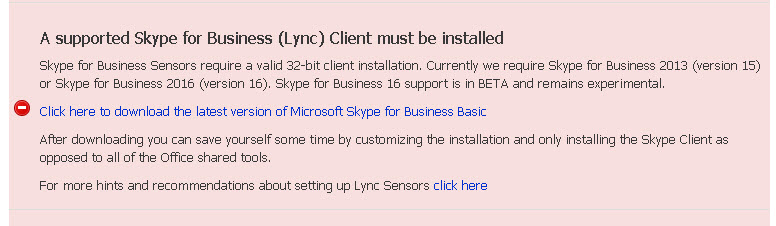 Skype for Business 16 Now Supported