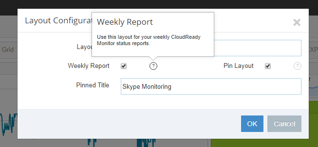 Weekly Report Capture Layout Settings